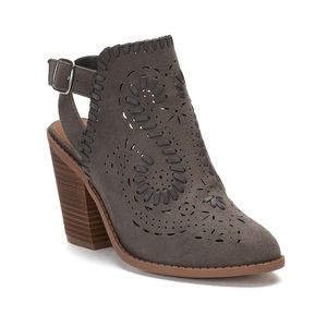 New Sugar Realness Perforated Cut Out Bootie